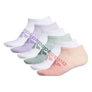 Adidas NWT womens superlite 6-Pair No show Pink, white, green multicolored Socks