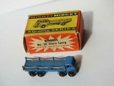 BENBROS QUALITOY V. RARE 1954 BOXED MIGHTY MIDGET #28 FODEN CHAIN LORRY BLUE BPW