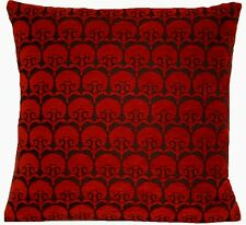 "Carnation Cushion Cover Chenille Osborne & Little Fabric Red Brown 16"" CLEARANCE"