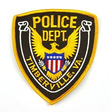 Timberville Police Uniform Aufnäher USA Polizei Emblem Patch Bügelflicken