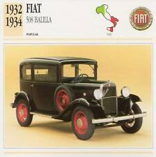 1932-1934 FIAT 508 BALILLA Classic Car Photograph / Information Maxi Card