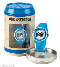 WATCH ONE DIRECTION OFFICIAL 1 D CLOCK WATER RESISTANT IN CANS S03 blue