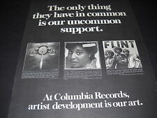 Toto Cheryl Lynn and Flint from Grand Funk 1978 Promo Poster Ad mint condition