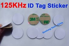125KHz ID Tag Sticker Waterproof 3M Adhesive LF EM4100 compatible Access Control