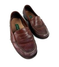 COLE HAAN Mens 9M Brown Leather Penny Loafers Casual Shoes EU 42 UK 7
