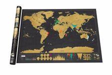 Carte du monde à gratter Vacances Scratch Map Wall Voyage Décor Luxe Affiche Fr