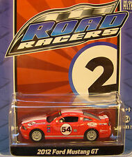 GREENLIGHT COLLECTIBLES 1:64 SCALE DIECAST METAL RED 2012 FORD MUSTANG GT