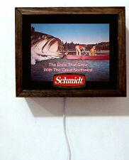 Schmidt Beer Fishing Fish Boating Wildlife Tavern Bar Light Lighted Sign