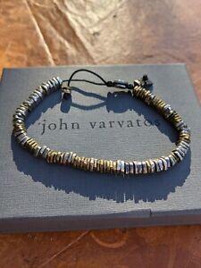 John Varvatos Silver & Brass Disc Bracelet