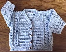 Patrón de ganchillo Cardigan Para Bebé/niño (nacimiento - 6 años) en DK (1012)