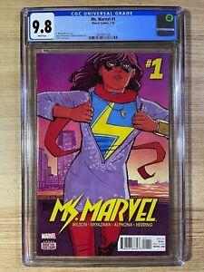 Ms Marvel #1 (2016 Marvel) 1st Print CGC 9.8