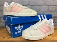 ADIDAS LADIES OG UK 4 EU 36 2/3 GAZELLE GREY SUEDE PINK HEEL TRAINERS LG