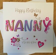 Personalised Female birthday card mum nan Nanny gran grandma Any Name/message