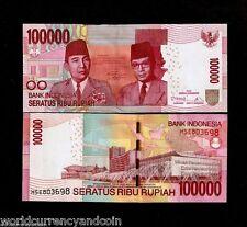 INDONESIA 100000 100,000 RUPIAH 2013 *Replacement XSE  SUKARNO HATA UNC BANKNOTE