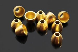 40pcs/lot Copper Brass Cone Heads Tube Flies Streamers Fly Tying Beads Materials