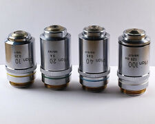 Nikon Plan 10, 20, 40 and 100x 160mm TL Microscope Objective Set