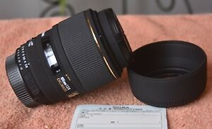 NEVER USED Sigma Macro 105mm f/2.8 DG EX  lens for Nikon mount