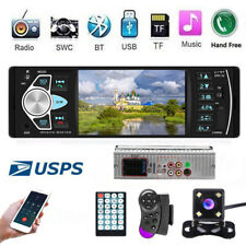 4.1''  Single Car Radio Bluetooth 1 Din  Stereo MP5 Player AUX USB FM +Camera