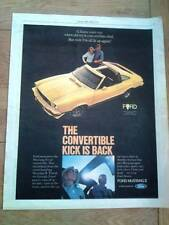 FORD MUSTANG II convertible 1977  Poster size Press ADVERT 13x10""