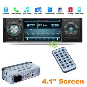 "4.1"" Screen 1080P Car Stereo Bluetooth Single Din FM Radio Video MP5 Player Unit"