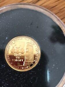 RARE 2014 CENTENARY OF WORLD WAR TDC GOLD COIN