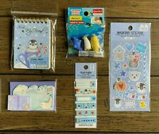 KAWAII DAISO JAPAN PENGUIN LETTER SET PUZZLE ERASER STICKERS CARDS MEMO PAD TAGS