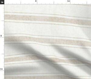 Texture Stripe Woven Ticking Towels Decor Line Spoonflower Fabric by the Yard
