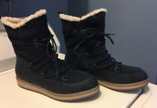 White Mountain Topaz Leather Cold-Weather Boots Navy 9.5M