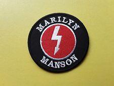 POP, ROCK, PUNK, METAL MUSIC SEW ON & IRON ON PATCH:- MARILYN MANSON
