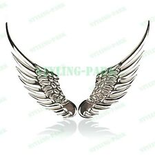 3D Chrome Angel Wings Logo Rear Plate Badge Emblem Trunk Lid Metal Sticker Decal