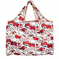 Cute Snoopy Folding Shopping Bag Eco-friendly White Large Capacity Easy to Carry
