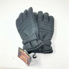 3M THINSULATE WATERPROOF Heat Logic L/XL Ski SNOW GLOVES MEN Black NWT