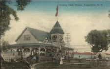 Fredericton NB Boating Club House NICE COLOR c1910 Postcard