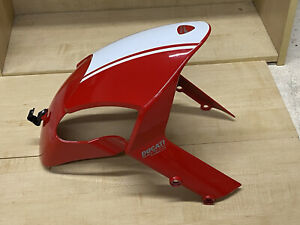 DUCATI Monster OEM 696 796 1100 FRONT FENDER Red White Stripe