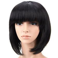 Schwarze Perücken & Haarteile aus Echthaar-Kunst für Erwachsene