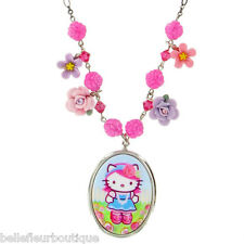 "Tarina Tarantino Pink Head Flower Charm Necklace ""Pink"" *Made in California*"