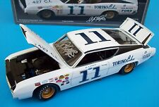 A.J. Foyt 1969 Ford Torino Cobra #11 Don Wagner Signed Autograph 1/24 NASCAR New