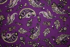 Purple Paisley Print #11 100 Rayon Challis Sewing Shirt Apparel Fabric BTY