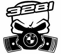 Calavera bmw serie 3 328i etc... Tuning sticker auto Fun pegatinas racing
