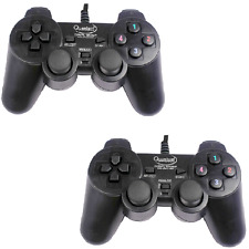 QUANTUM QHM7468 USB Double Vibration Shock Remote Joystick Gamepad Set of 2