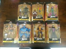 "MARVEL LEGENDS X-MEN 6"" BUILD CALIBAN WAVE set of 7 BEAST GAMBIT FORGE JUBILEE +"