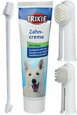 Dogs Mouth Hygiene Set Finger Toothbrush Massage Brush Mint Dog Toothpaste