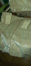 "Elegant 18"" Cushion Covers x 3 - Pale Gold DAMASK / BROCADE + Rope Edge -  BNWT"