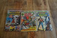 Western Gunfighters #2 17 20 (Marvel, 1970, 1973, & 1974) G/VG to NM Lot of 3