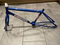 Vintage Redline MX-III Old School BMX Frame and Fork Blue 1980