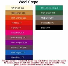 Unbranded Apparel-Everyday Clothing 100% Wool Craft Fabrics