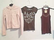 LOT OF 3 PIECES WOMANS X-SMALL & SMALL ABERCROMBIE & AEROPOSTAL & HOLLISTER TOPS