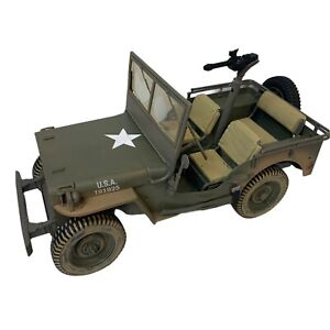 2002 Hasbro GI Joe Limited Edition Willys Jeep Ultimate Soldier 30 Cal