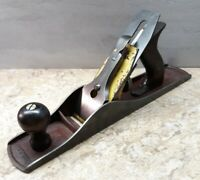 Vtg. Stanley Two-Tone No. OH-5 Smooth Bottom Jack Plane USA woodworking tool