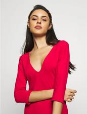 Free People Wear My Heart Open Back Bodysuit Thong Back Size Medium Red  RRP £49